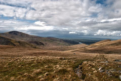 Snowdonia Landscape. Open Snowdonian landscape, HDR. Large view over rolling hills Stock Photography