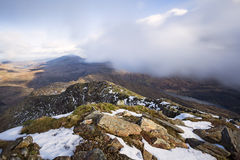 Snowdonia Landscape. Snowdon View over Y Lliwedd Royalty Free Stock Images