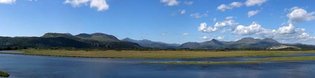 Snowdonia mountain range panorama Stock Image