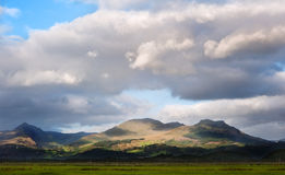 Snowdonia mountain range panorama Royalty Free Stock Image