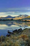 Snowdonia mountains from Llynnau Mymbyr stock images