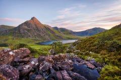 Snowdonia Nationaal Park in Noordelijk die Wales in Juni 2018 wordt genomen Royalty-vrije Stock Fotografie