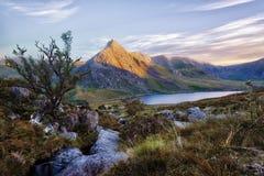 Snowdonia Nationaal Park in Noordelijk die Wales in Juni 2018 wordt genomen Royalty-vrije Stock Foto