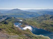 Snowdonia Nationaal Park in Noordelijk die Wales in Juni 2018 wordt genomen Royalty-vrije Stock Foto's