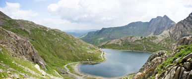 Snowdonia national park. Mountain in wales Royalty Free Stock Images
