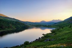 Snowdonia National Park in Northern Wales taken in June 2018 Stock Photography