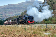 SNOWDONIA NATIONAL PARK, WALES/UK - OCTOBER 9 : Welsh Highland R. Ailway in Snowdonia National Park on October 9, 2012. Unidentified people Stock Images
