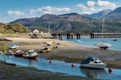 Snowdonia nationalpark i Wales Arkivfoto