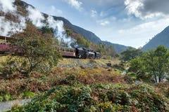 SNOWDONIA-NATIONALPARK, WALES/UK - OKTOBER 9: Walesisk högland R Royaltyfria Foton