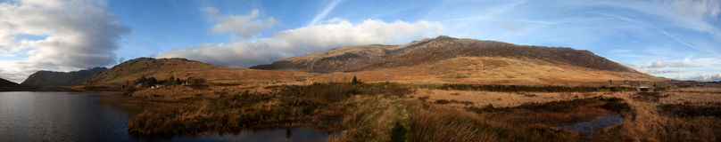 Snowdonia Panorama Royalty Free Stock Photos