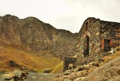 Snowdonia Panorama. Pictures of mountains near Snowdonia Royalty Free Stock Images