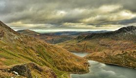 Snowdonia Panorama. Pictures of mountains near Snowdonia Stock Photography