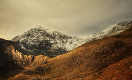 Snowdonia Panorama. Pictures of mountains near Snowdonia Royalty Free Stock Photography