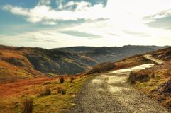Snowdonia Panorama. Pictures of mountains near Snowdonia Royalty Free Stock Photos