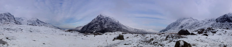 Snowdonia Panorama in Winter Royalty Free Stock Photos