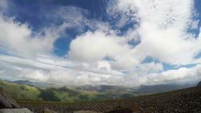 Snowdonia panoramic view stock footage