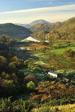 snowdonia rolna gynant nant północna dolina Wales Obrazy Royalty Free
