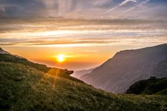 Snowdonia-Sonnenuntergang II stockbild