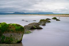 Snowdonia, a view from Harlech Beach Stock Images