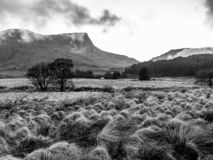 Snowdonian countryside with rolling mist - Wales stock photography