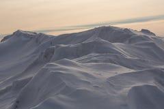 Snowdrift που απομονώνεται στο άσπρο υπόβαθρο για το σχέδιο Στοκ Εικόνα