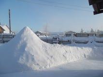 Snowdrift-πυραμίδα Στοκ Εικόνες