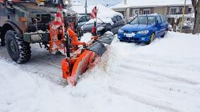 Snowdrift χιονιού καθαρότερος shoovel χειμερινός δρόμος μηχανών στοκ εικόνες