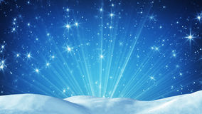 Snowdrift and magic light rays. Computer generated christmas background Royalty Free Stock Photos