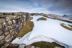 Snowdrift at Milecastle 42 on Hadrian`s Wall Royalty Free Stock Photos