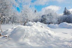 The snowdrift Stock Photo