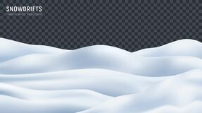 Free Snowdrift Realistic Transparent Background Stock Photography - 195054622
