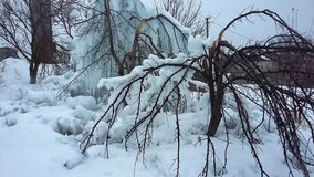 Snowdrifts, παγετός πάγου παγακιών Στοκ Φωτογραφίες