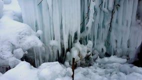 Snowdrifts, παγετός πάγου παγακιών Στοκ Εικόνες