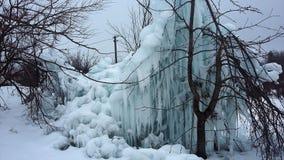 Snowdrifts, παγετός πάγου παγακιών Στοκ Εικόνα