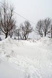 Snowdrifts στην οδό Στοκ εικόνες με δικαίωμα ελεύθερης χρήσης