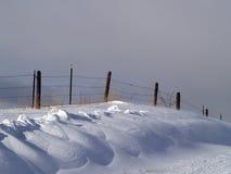 snowdrifts φραγών Στοκ Φωτογραφίες