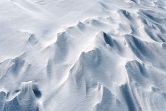 Snowdrifts in Snow at Winter Stock Image