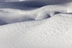 snowdrifts Storen specificerar Arkivfoto