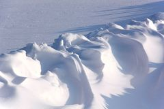 Snowdrifts. Winter. Stock Images