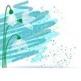 Snowdrop Hintergrund Lizenzfreie Abbildung
