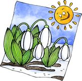 Snowdrops ilustração do vetor