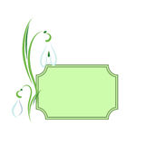 Snowdrops. Card. Stock Image