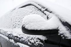 Snowed car in winter Royalty Free Stock Photos