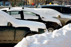 Snowed cars Royalty Free Stock Photos