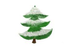 Snowed Christmas tree Royalty Free Stock Photo
