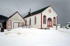 Snowed in Church Royalty Free Stock Images
