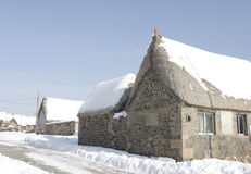 Snowed house after snow storm Stock Photography