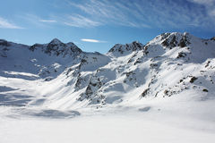 Snowed mountain. S in the Pyrenees, Andorra stock images