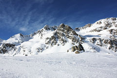 Snowed mountain. S in the Pyrenees, Andorra royalty free stock image