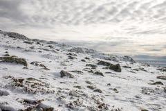 Snowed mountain winter landscape Stock Photography